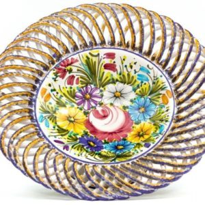 Ceramic centerpiece or fruit bowl Fioraccio, Ceramiche Liberati