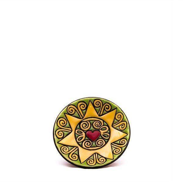 Piatto in ceramica presentosa abruzzese, cuerda seca, Ceramiche Liberati