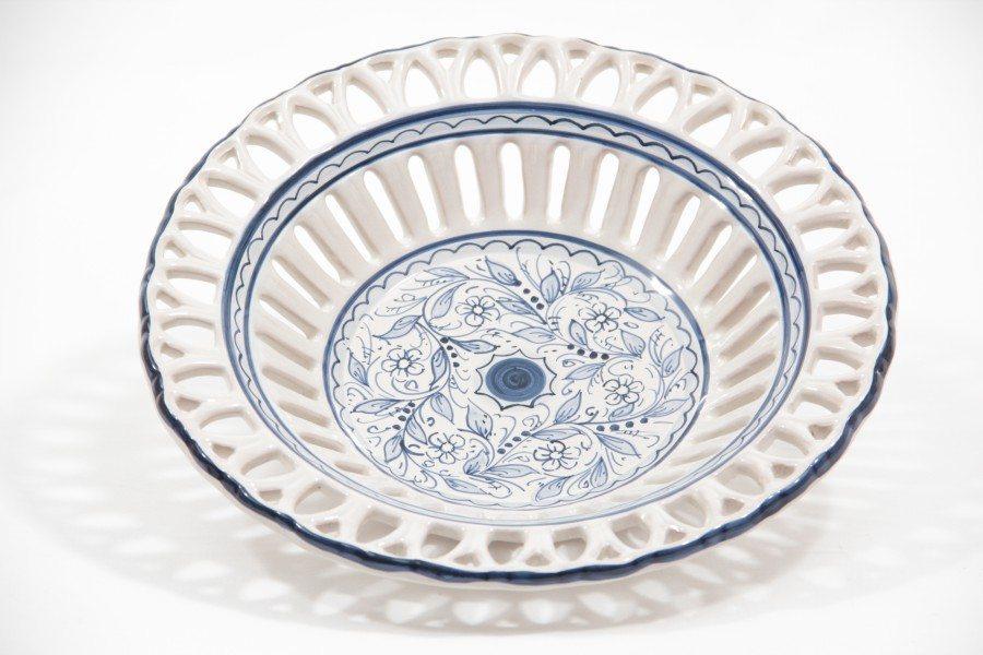 Ceramic centerpiece, Rapino fretwork, teate Ceramiche Liberati