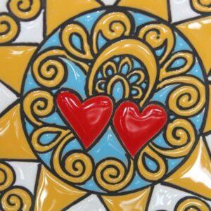 Piatto in ceramica italiana Presentosa abruzzese, bianco, Ceramiche Liberati