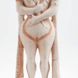 Scultura in ceramica Guerriero di Capestrano, ceramiche Liberati