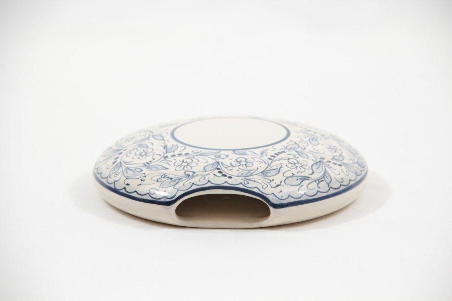 Umidificatore in ceramica per termosifoni e caloriferi. Dipinto a mano. Ceramiche Liberati, Abruzzo, Italia