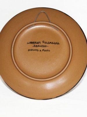 Piatto in ceramica italiana Presentosa abruzzese, verde, Ceramiche Liberati