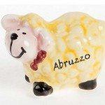 Souvenir in ceramica pecorella d'Abruzzo, dipinto a mano, Ceramiche Liberati