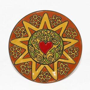 Piatto da muro Presentosa abruzzese , cuerda seca Abruzzo, Ceramiche Liberati