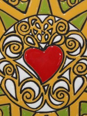 Piatto in ceramica decoro Presentosa 1 cuore, Ceramiche Liberati