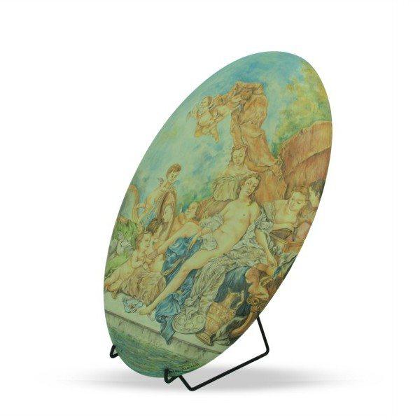 Ovale in ceramica da muro
