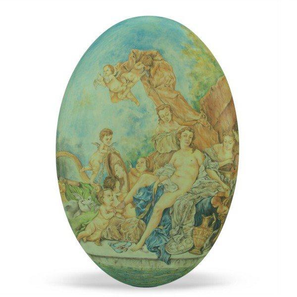 Ovale in ceramica Toilette di Venere di François Boucher, Ceramiche Liberati
