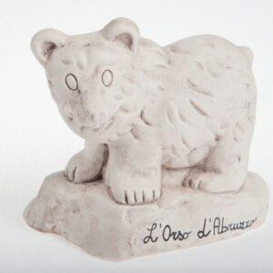 orso in ceramica abruzzo pattinata anticato, Ceramiche Liberati