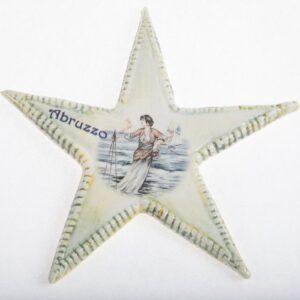Magnete da frigo stella marina in ceramica italiana in ceramica con stampa digitale, Ceramiche Liberati