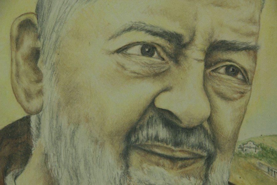 Mattonella in ceramica Padre Pio da Pietrelcino, Ceramiche Liberati