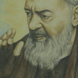 Mattonella in ceramica Padre Pio di Pietrelcina, Ceramiche Liberati