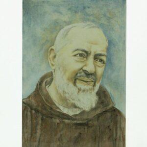Mattonella padre pio in ceramica artistica, Padre Pio, Ceramiche Liberati