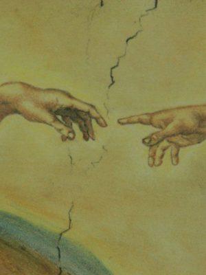 Quadri in ceramica: Mattonella in ceramica, Creazione di Adamo, Ceramiche Liberati
