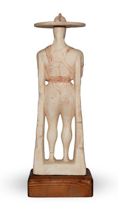 Statuetta in ceramica Guerriero di Capestrano 1:4, Ceramiche Liberati