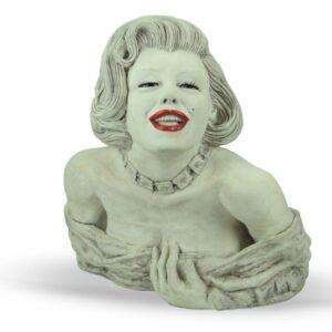 Scultura in ceramica Marilyn Monroe realizzata a mano, Ceramiche Liberati