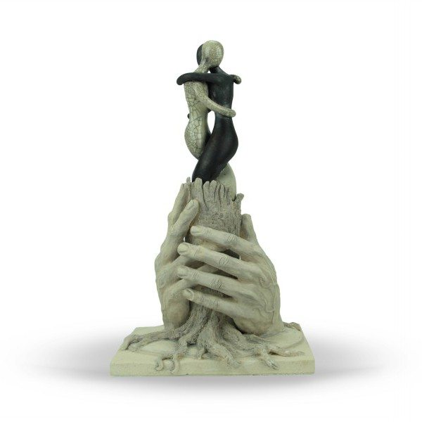 Scultura a tutto tondo in ceramica italiana