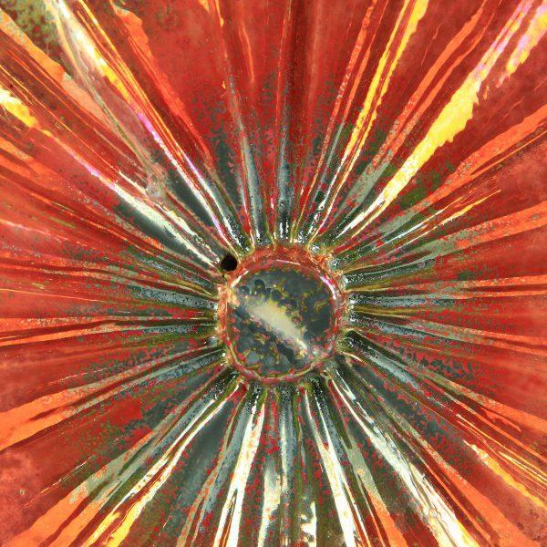 Scultura Zucca in ceramica Rouge vif d'etampe, Ceramiche Liberati, Italia