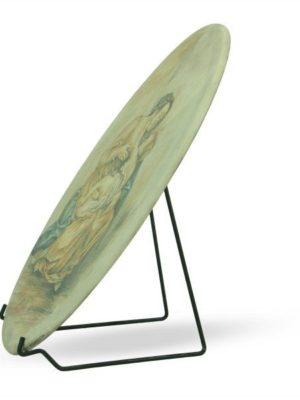 Ovale in ceramica, dipinto a mano a colori, Ceramiche Liberati