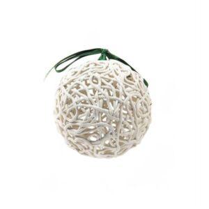 """Pallina """"L'intreccio"""" in terracotta bianca, Ceramiche Liberati"""