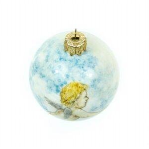 Ceramic ball winged Cupid or Angel, Ceramiche Liberati