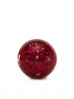 Ceramic Christmas ball with purple lusters, diameter 8 cm, Ceramiche Liberati