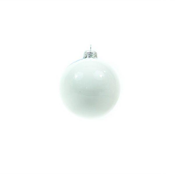 Ceramic ball, winter landscape blue and white, Ceramiche Liberati