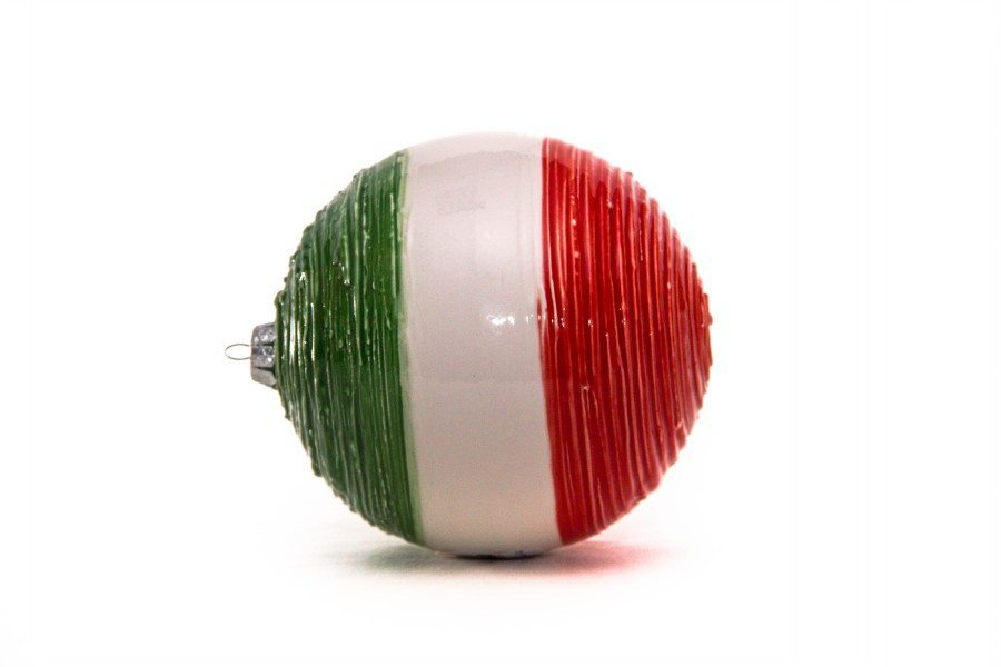 """Pallina di Natale in ceramica """"Italia"""", fatto a mano, Ceramiche Liberati"""