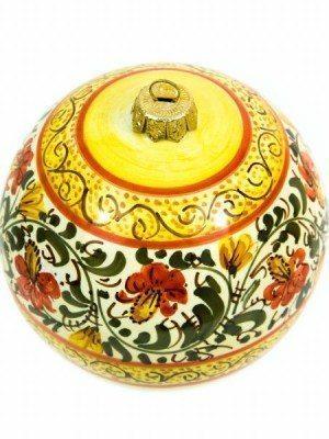 Pallina di Natale in ceramica, decorata a mano, Ceramiche Liberati