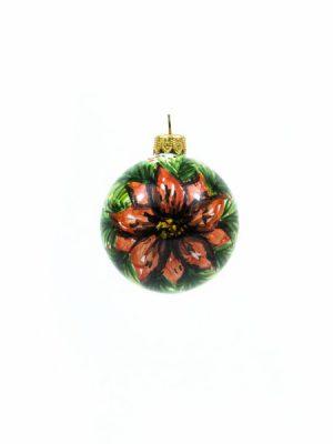 Pallina natalizia in ceramica Stella di Natale, Ceramiche Liberati