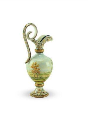 Anfora in ceramica paesaggio tradizionale, altezza 25 cm, Ceramiche Liberati