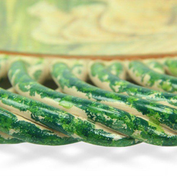 46CIT_Piatto in ceramica La Pastorella di Michetti, fascia intrecciata_Ceramiche Liberati