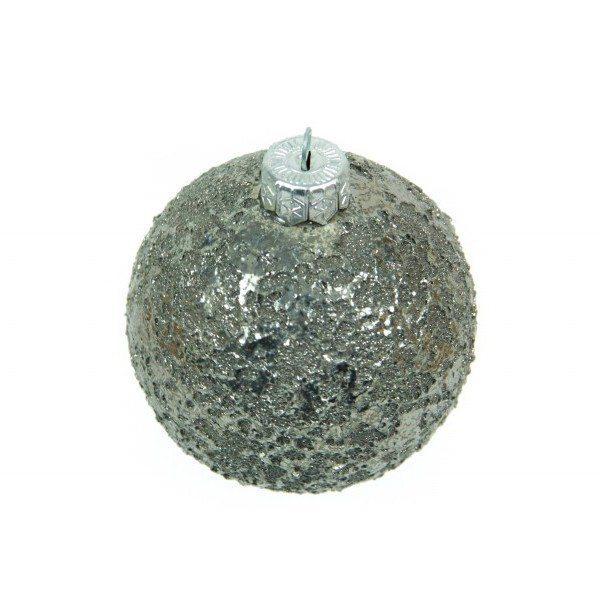 47MIT_Pallina in ceramica italiana decorato platino scintilla_Ceramiche Liberati