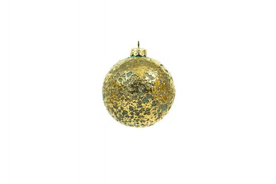 Immagini Natale Oro.Pallina Di Natale Scintilla In Ceramica Con Oro Zecchino