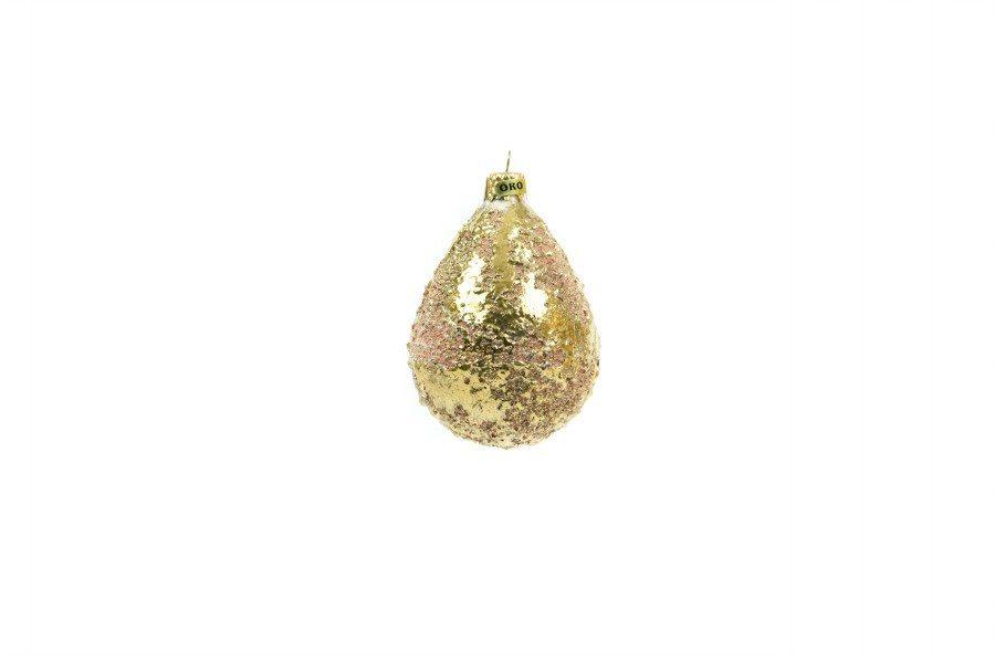 Pallina di Natale scintilla con oro zecchino, Ceramiche Liberati