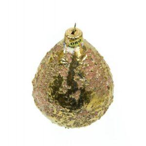 Pallina in ceramica a forma di goccia con oro zecchino, Ceramiche Liberati