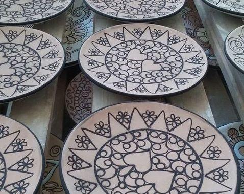 Decorazione Cuerda seca in Abruzzo Ceramiche Liberati