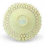 Centrotavola moderno in ceramica italiana di design, cristalli e oro zecchino, Ceramiche Liberati