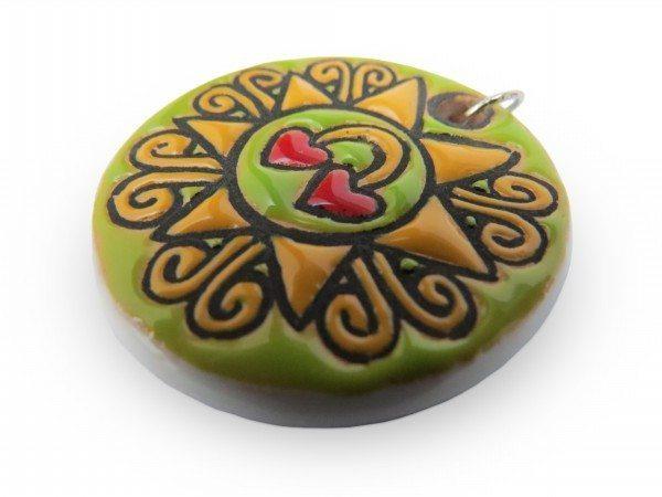 Ciondolo in ceramica Presentosa, Ceramiche Liberati
