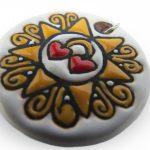 Ciondolo Presentosa in ceramica abruzzese, Ceramiche Liberati