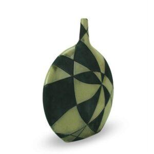 Bottiglia in ceramica raku a scacchiera da design, Ceramiche Liberati