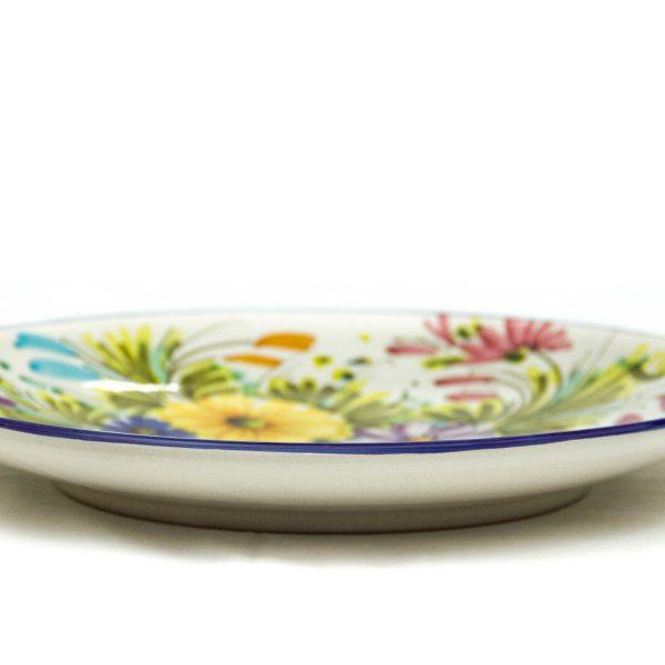 Piatto da muro in ceramica artigianale, decoro Fioraccio di Ceramiche Liberati