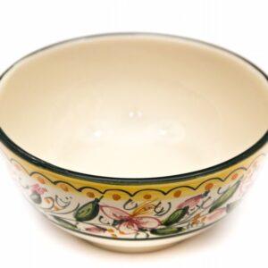 Artisanal ceramic aperitif cup Orchidea, Ceramiche Liberati