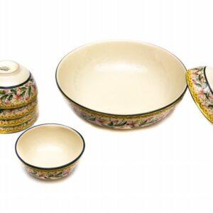 Set macedonia in ceramica artigianale italiana, Ceramiche Liberati