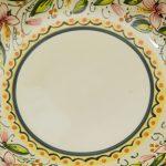 Ciotolina in ceramica artigianale con bordo smerlato, decoro Orchidea, Ceramiche Liberati