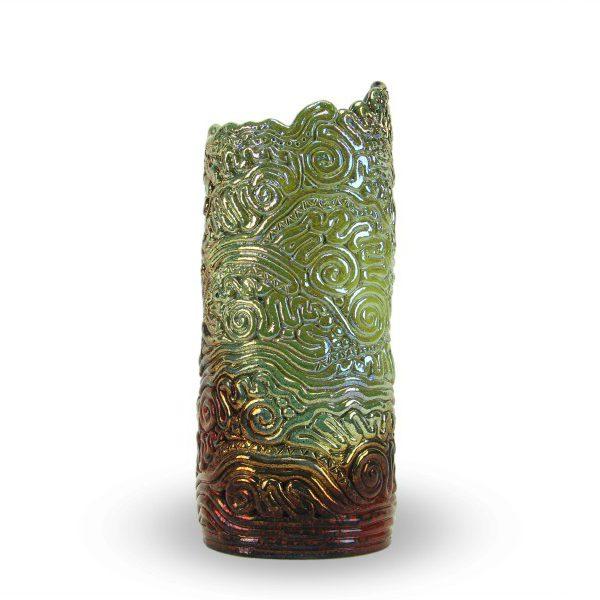 Vaso in ceramica a colombino con riflessi, Ceramiche Liberati