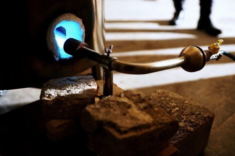 Forno a pozzo per la cottura raku, Ceramiche Liberati