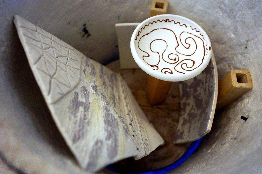 Forno speciale per la cottura della ceramica raku, Ceramiche Liberati