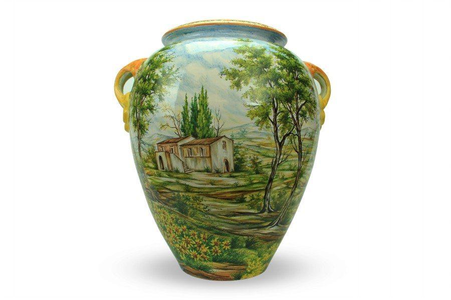 Otre in ceramica artigianale italiana Paesaggio di Ceramiche Liberati