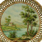 Piatto da muro Paesaggio naturalistico, Ceramiche Liberati